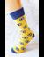 Bláznivé pánske ponožky Oči | Veľkosť: 40–43 | Žltá