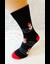Bláznivé pánske ponožky Snehuliaky | Veľkosť: 40 – 43 | Čierna