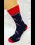 Bláznivé pánske ponožky Lízanky | Veľkosť: 40 – 43 | Modrá