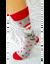 Bláznivé pánske ponožky Mikuláš HO HO | Veľkosť: 40-43 | Sivá