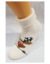 Bláznivé dámske froté ponožky Veselý sob | Veľkosť: 36-40 | Krémová