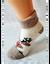 Bláznivé dámske froté ponožky Veselý sob | Veľkosť: 36-40 | Béžová