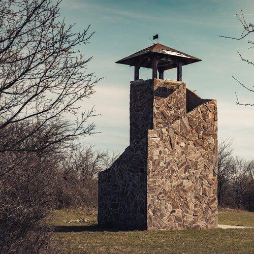 Rozhľadňa Lipovec a pamätník SNP pri osade U Rehušov