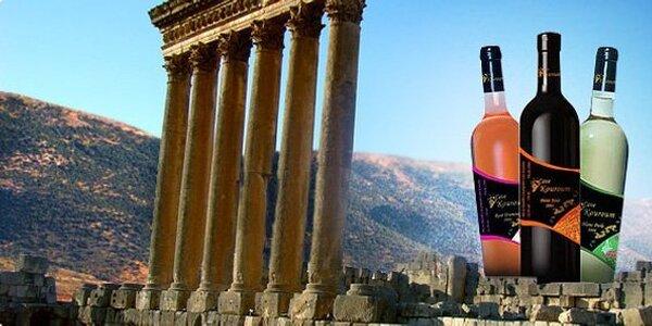 9,90 Eur za set troch fliaš libanonského vína so zľavou 52%!