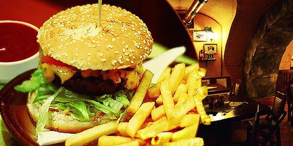 Šťavnatý hovädzí Massive burger
