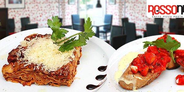 Romantické talianske menu pre 2 osoby