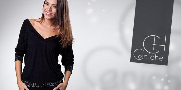 Dámska móda Caniche - veselé farby a kamienkové aplikácie