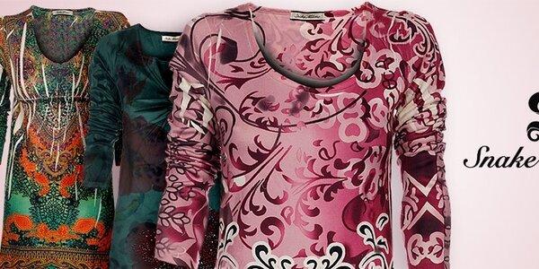 Dámske oblečenie Snake Milano - móda s prvkami orientu