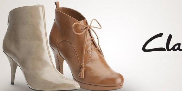 Dámske topánky Clarks - kvalitná koža a precízne spracovanie