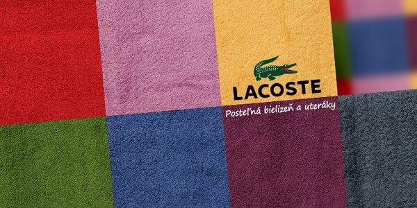 Luxusná posteľná bielizeň a uteráky Lacoste - pre útulný domov