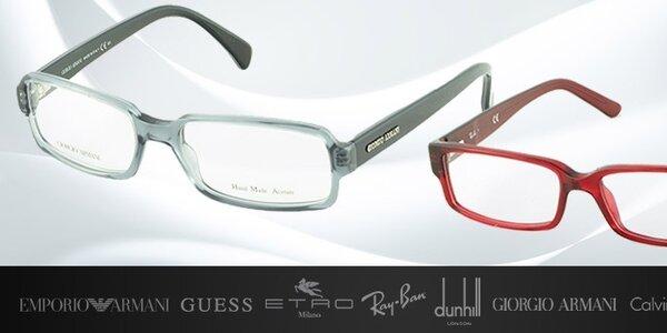Dioptrické okuliare svetoznámych značiek