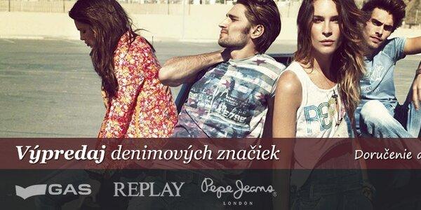 Pepe Jeans, Gas, Replay - značková denimová móda pre mužov aj ženy