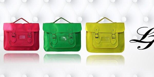 Dámske farebné aktovky a kabelky London Fashion