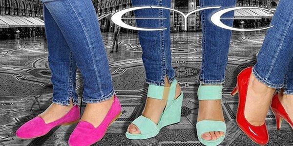 Dámska obuv Eye - trendy sultánky či farebné sandále na platforme
