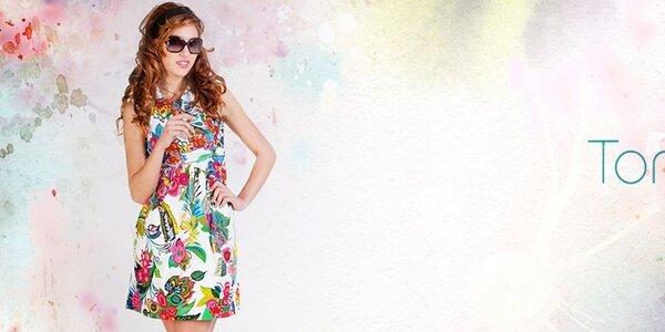Dámske šaty, blúzky a sukne Tonala - uvoľnená letná kvetinová móda