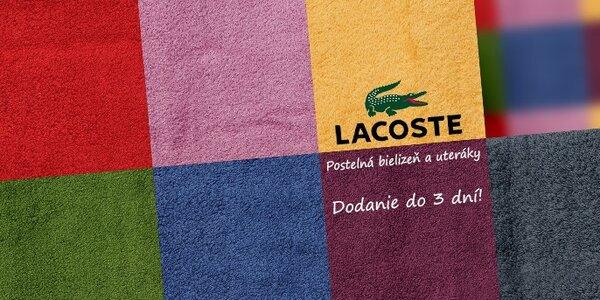 Výpredaj luxusných uterákov a posteľnej bielizne Lacoste