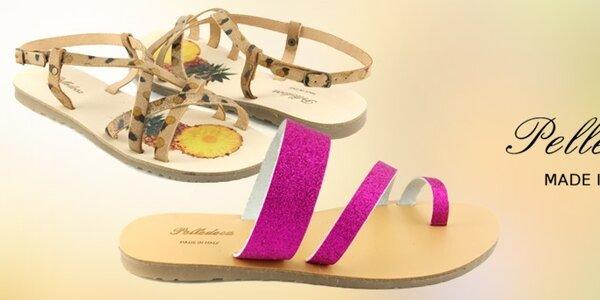 Dámske kožené sandále Pelledoca