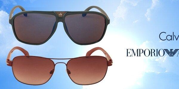 Pánske slnečné okuliare Calvin Klein a Emporio Armani