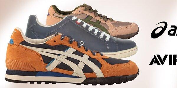 Pánske topánky Asics a Avirex