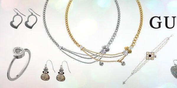 Luxusné oceľové šperky Guess
