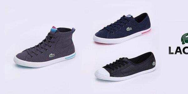 Dámske topánky Lacoste - športová klasika s logom krokodíla