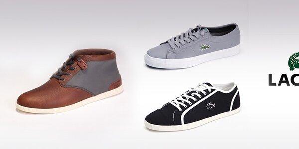 Pánske topánky Lacoste - športová klasika s logom krokodíla