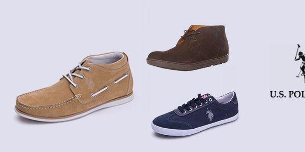Športovo-elegantné pánske topánky U.S. Polo