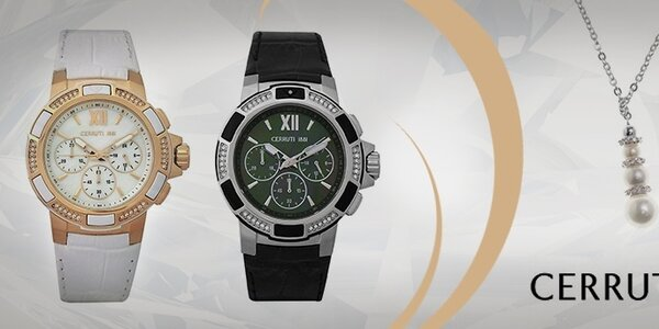 Dámske luxusné šperky a hodinky Cerruti 1881