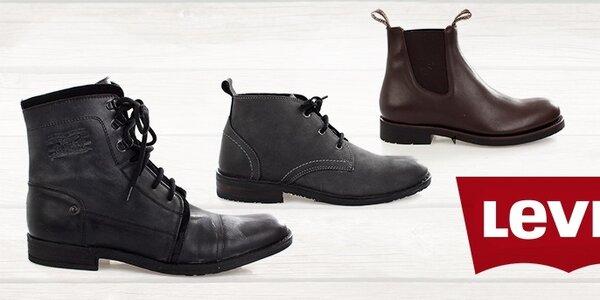 Pánske kožené topánky Levis