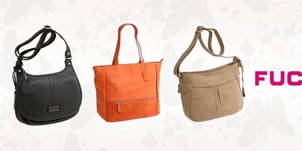Elegantné kožené kabelky Fuchsia