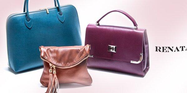 Kožené kabelky do práce aj na večierok Renata Corsi
