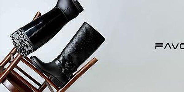 Elegantné čižmy do dažďa aj pre radosť Favolla