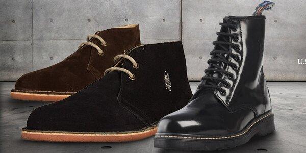 Štýlové kožené topánky U.S. Polo
