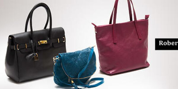 Dámske elegantné kožené kabelky Roberta Minelli