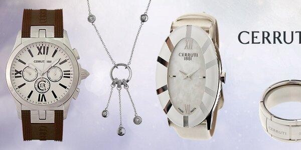Luxusné hodinky a šperky Cerutti 1881