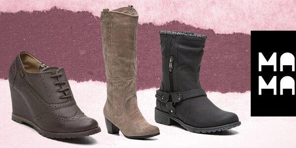 Štýlové dámske jesenné a zimné topánky Maria Mare