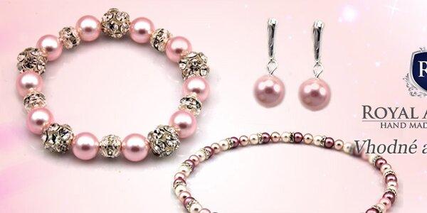 Ručne vyrábané šperky s perlami od Swarovski Royal Adamas