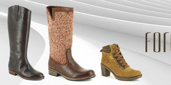 Elegantné čižmy a zimné topánky Foreva
