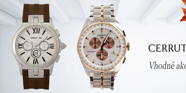 Luxusné a štýlové hodinky Cerruti 1881