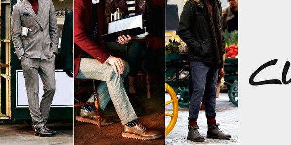 Elegantná anglická pánska obuv Clarks