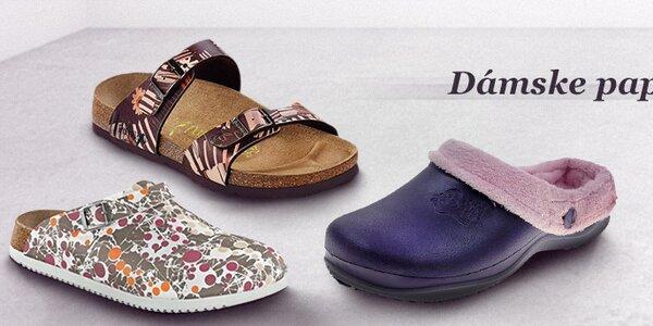 Dámske papuče pre zdravú a ľahkú chôdzu