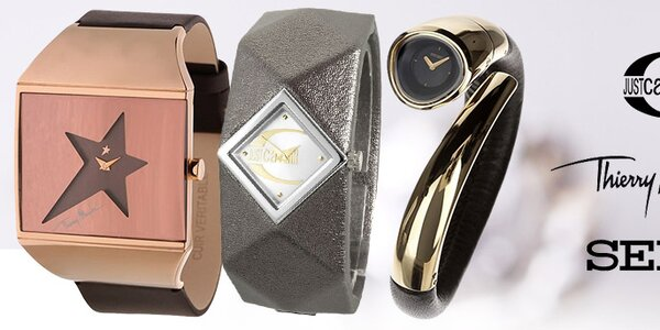 Štýlové hodinky Seiko, Just Cavalli, Thiery Mugler, Kookai a ďalšie
