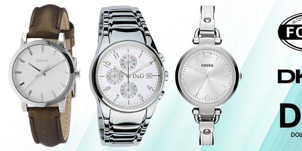 Dokonalo štýlové hodinky Dolce & Gabbana, DKNY a Fossil