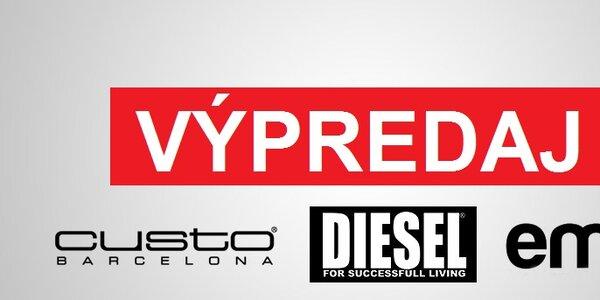 Dámske oblečenie a doplnky Diesel, Custo Barcelona a Emoi - všetko skladom