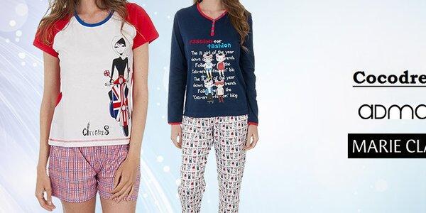 Veselé a štýlové dámske pyžamá a nočné košele