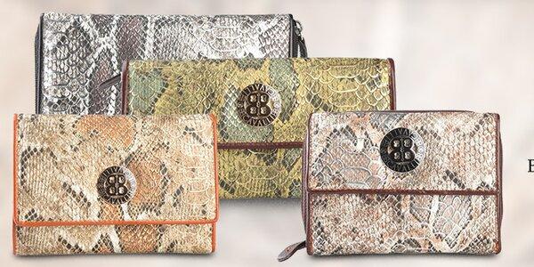 Dámske peňaženky Cavalli B. so štýlovým hadím vzorom