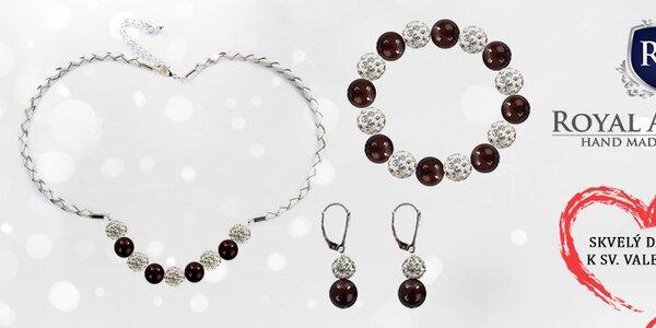 Ručne vyrábané šperky so Swarovski perlami Royal Adamas