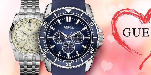 Darček k Valentínu - luxusné pánske hodinky Guess