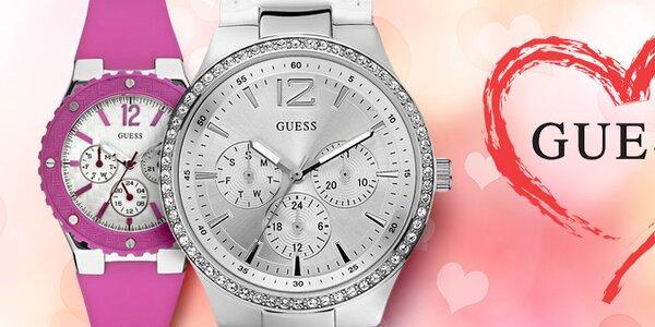 Darček k Valentínu - luxusné dámske hodinky Guess