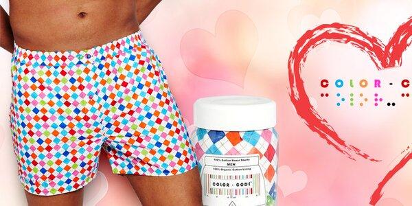Darček k Valentínu - farebné trenírky Color Code